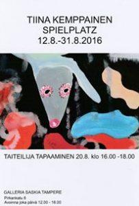Tiina Kemppainen taiteilijatap. 20.8.16
